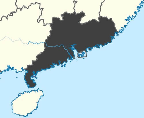 guangdong manufacturing cities